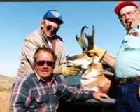 Three Hunters with Antelope